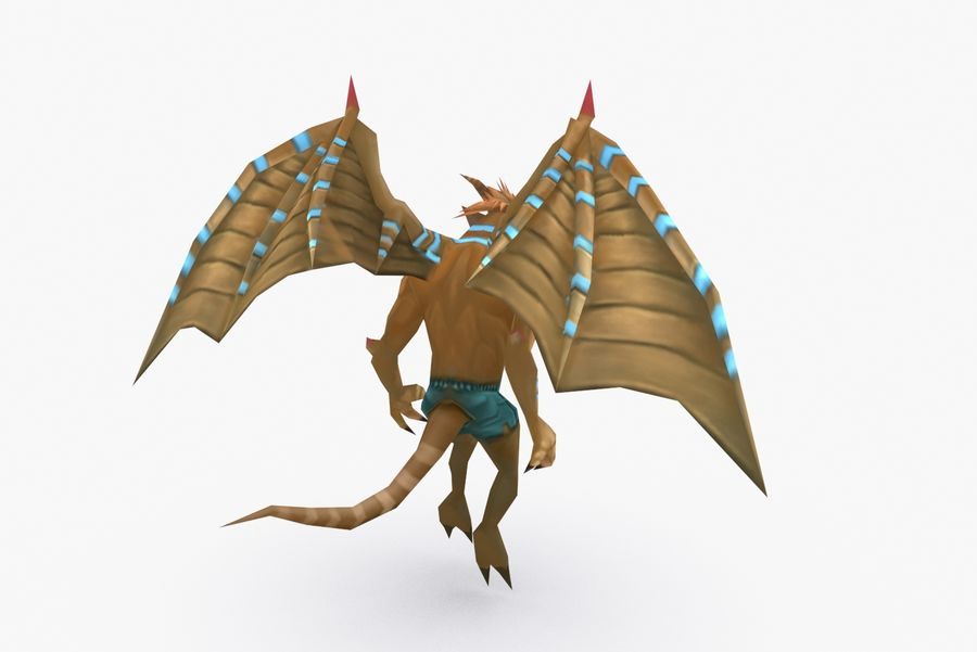 Animated Rigged Creature Type B royalty-free 3d model - Preview no. 5