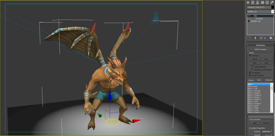 Animated Rigged Creature Type B royalty-free 3d model - Preview no. 8