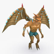 Animated Rigged Creature Type B 3d model