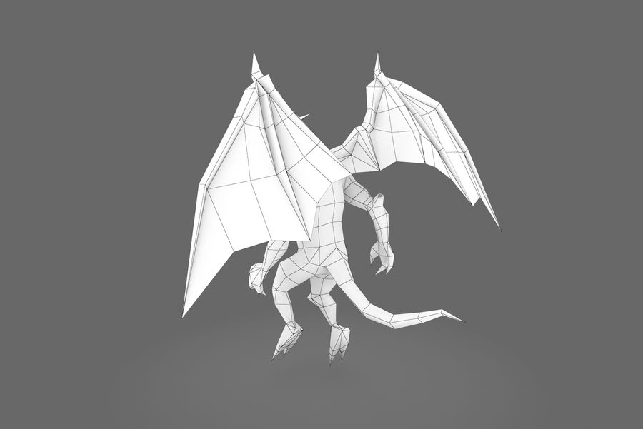 Animated Rigged Creature Type B royalty-free 3d model - Preview no. 2