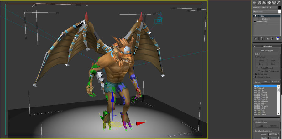 Animated Rigged Creature Type B royalty-free 3d model - Preview no. 7
