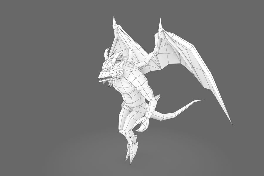 Animated Rigged Creature Type B royalty-free 3d model - Preview no. 1