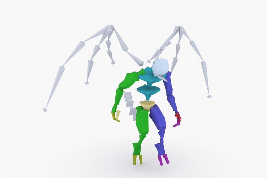 Animated Rigged Creature Type B royalty-free 3d model - Preview no. 9
