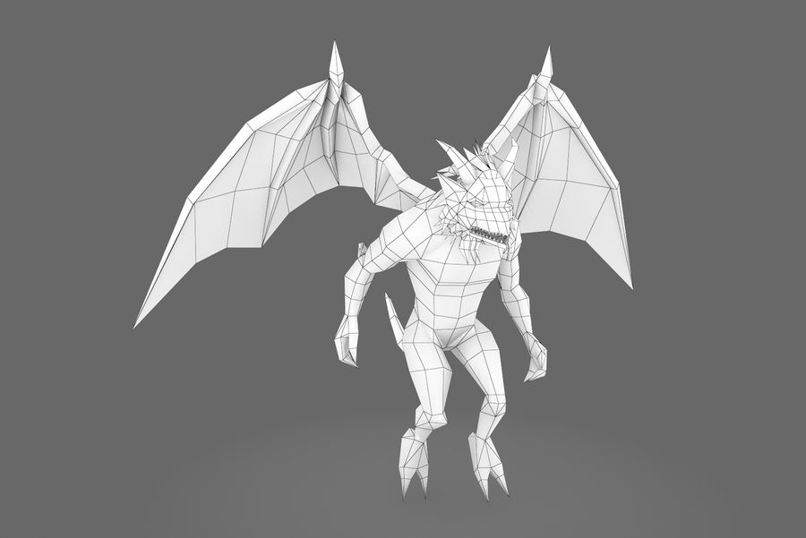Animated Rigged Creature Type B royalty-free 3d model - Preview no. 10