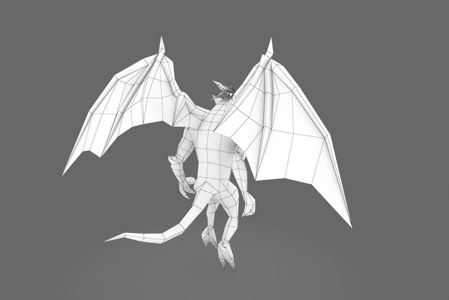 Animated Rigged Creature Type B royalty-free 3d model - Preview no. 3