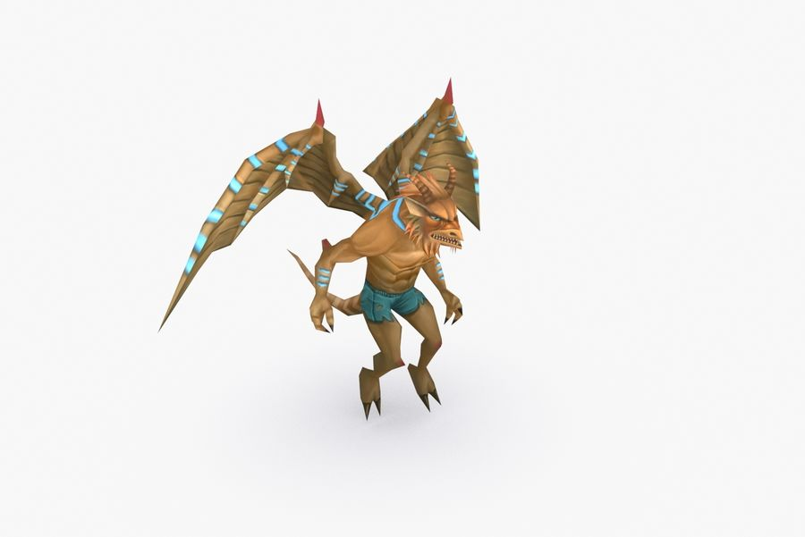 Animated Rigged Creature Type B royalty-free 3d model - Preview no. 6