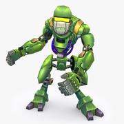Animated Rigged Robot Type A 3d model