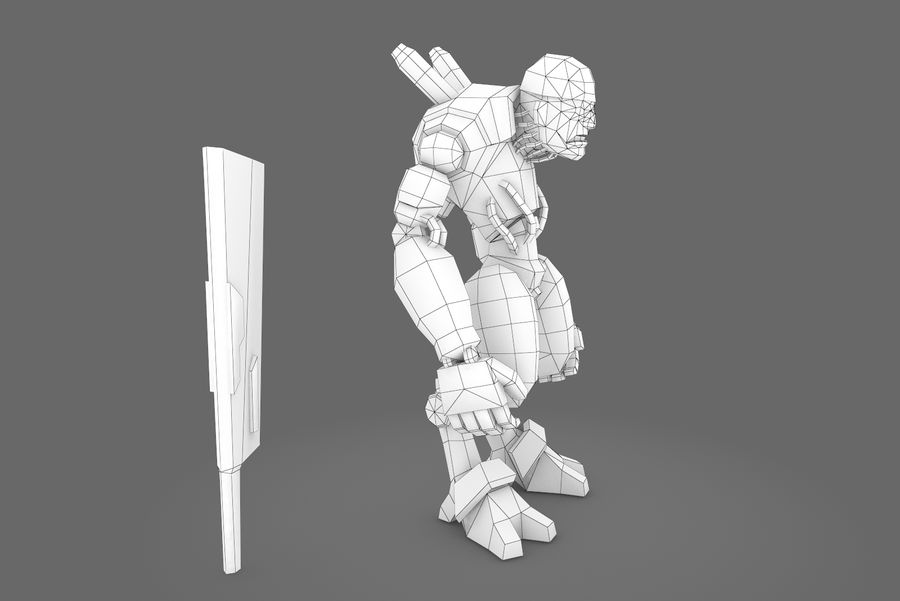 Animated Rigged Robot Type B royalty-free 3d model - Preview no. 2