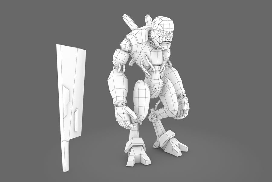 Animated Rigged Robot Type B royalty-free 3d model - Preview no. 1