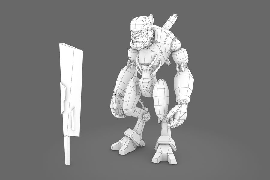 Animated Rigged Robot Type B royalty-free 3d model - Preview no. 5