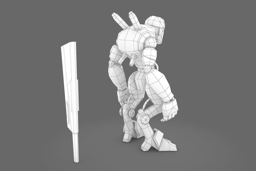 Animated Rigged Robot Type B royalty-free 3d model - Preview no. 3