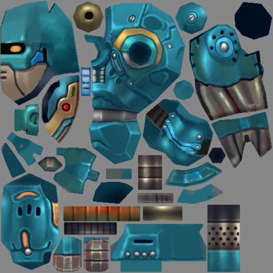 Animated Rigged Robot Type B royalty-free 3d model - Preview no. 8