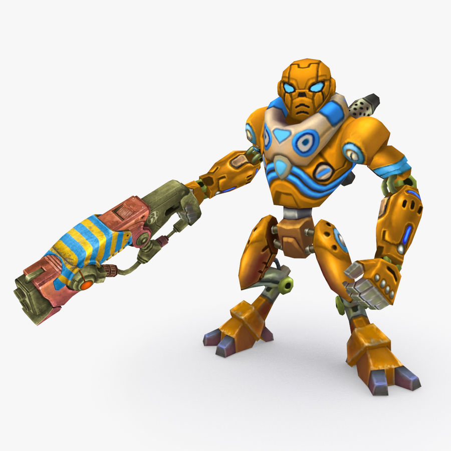 Animated Rigged Robot Type C royalty-free 3d model - Preview no. 1