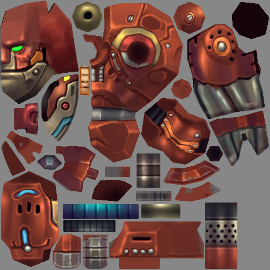 Animated Rigged Robot Type D royalty-free 3d model - Preview no. 8