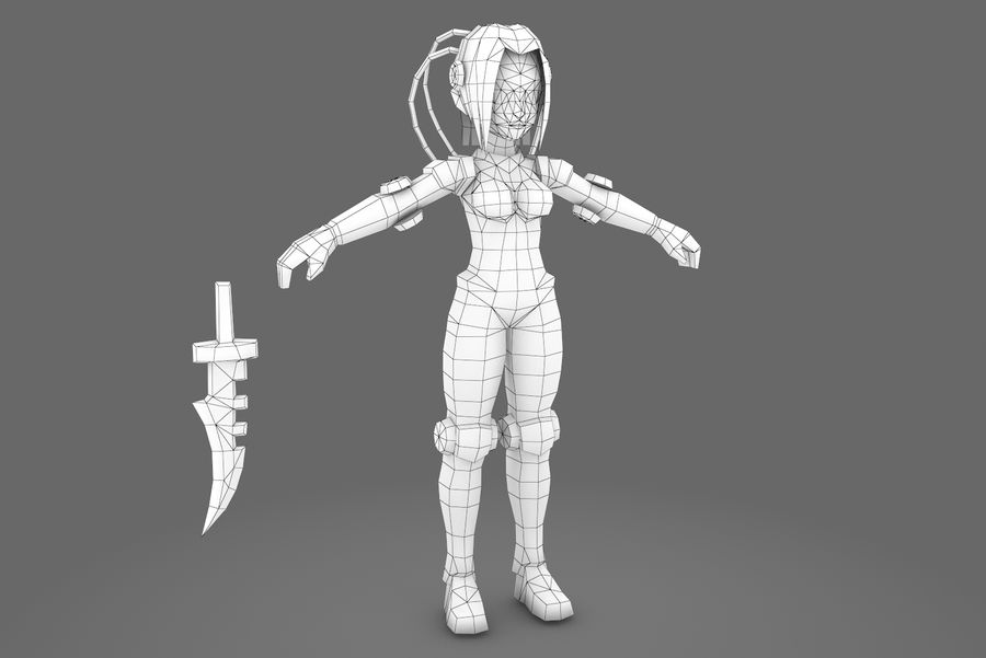 Animated Rigged Woman Character royalty-free 3d model - Preview no. 10