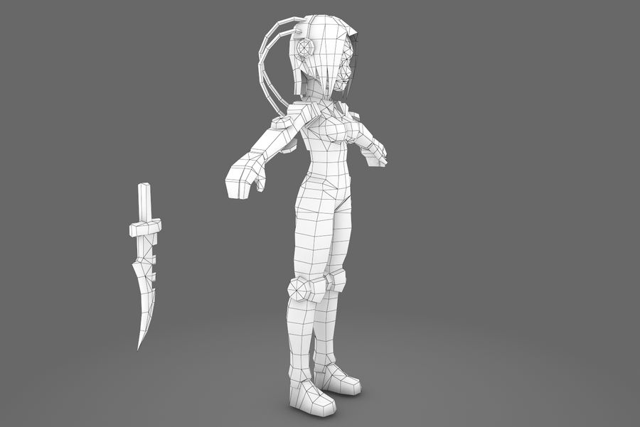 Animated Rigged Woman Character royalty-free 3d model - Preview no. 11