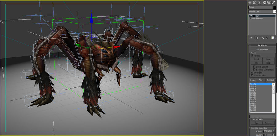 Animated Rigged Spider royalty-free 3d model - Preview no. 11