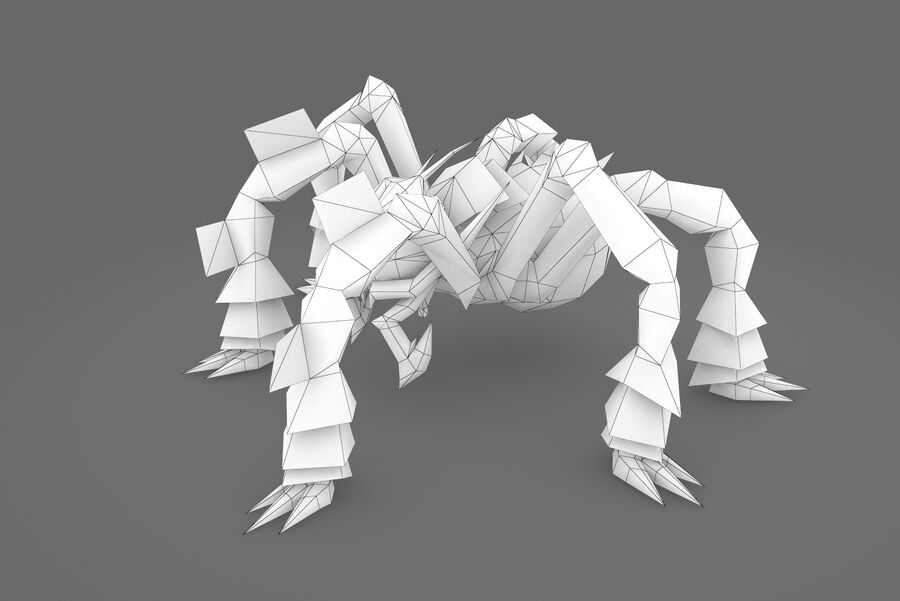 Animated Rigged Spider royalty-free 3d model - Preview no. 2