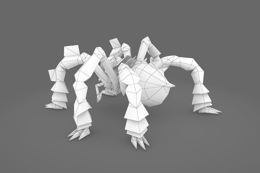 Animated Rigged Spider royalty-free 3d model - Preview no. 3