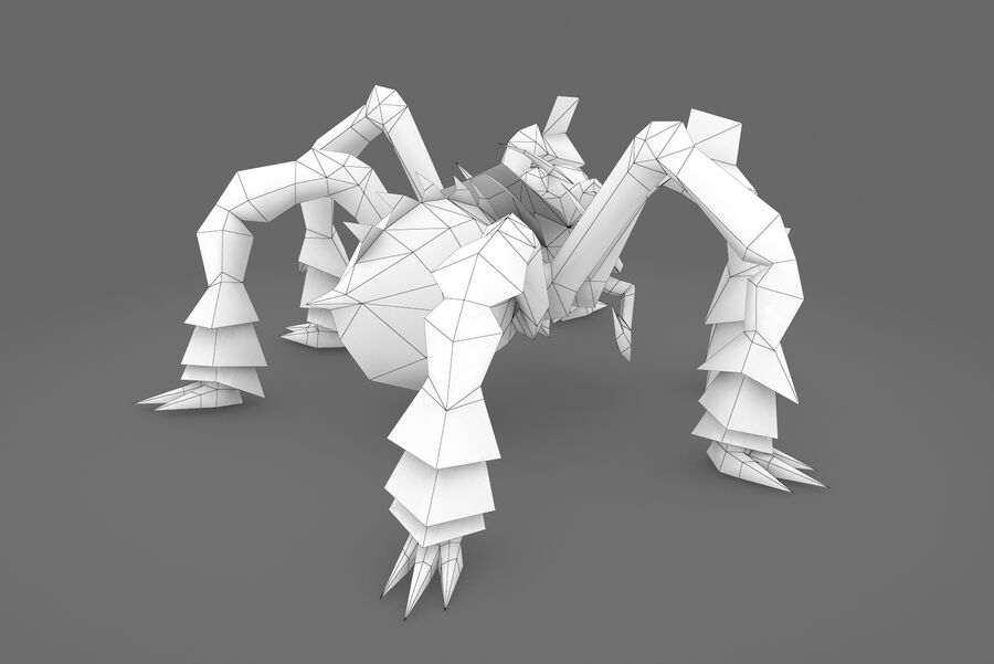 Animated Rigged Spider royalty-free 3d model - Preview no. 4