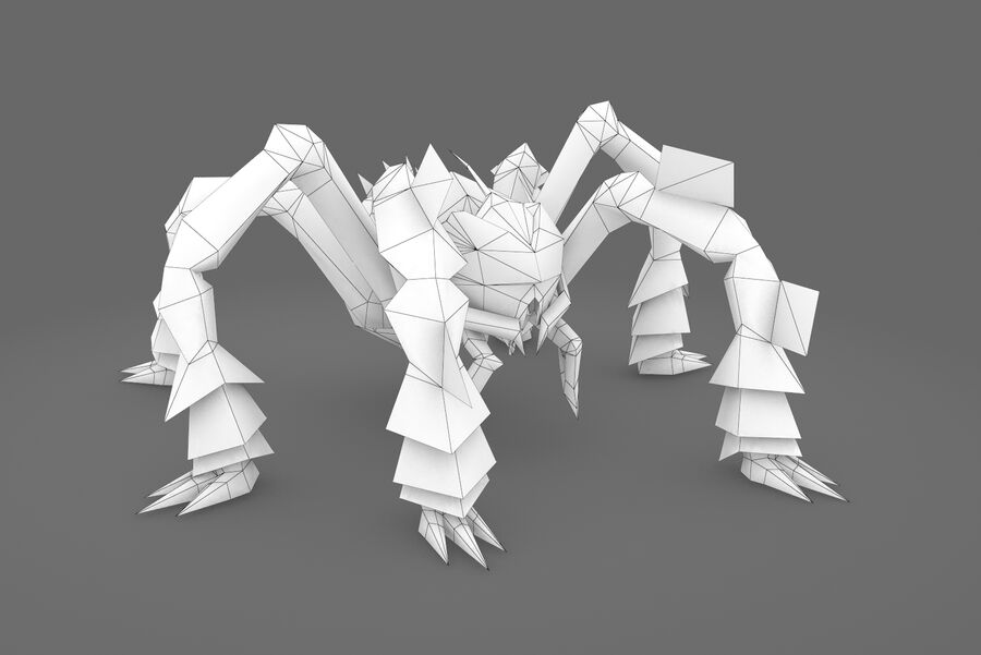 Animated Rigged Spider royalty-free 3d model - Preview no. 1