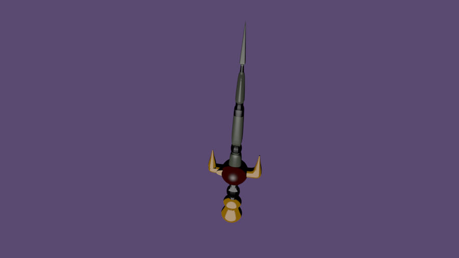 Armas Rpg Juego Lowpoly royalty-free modelo 3d - Preview no. 2