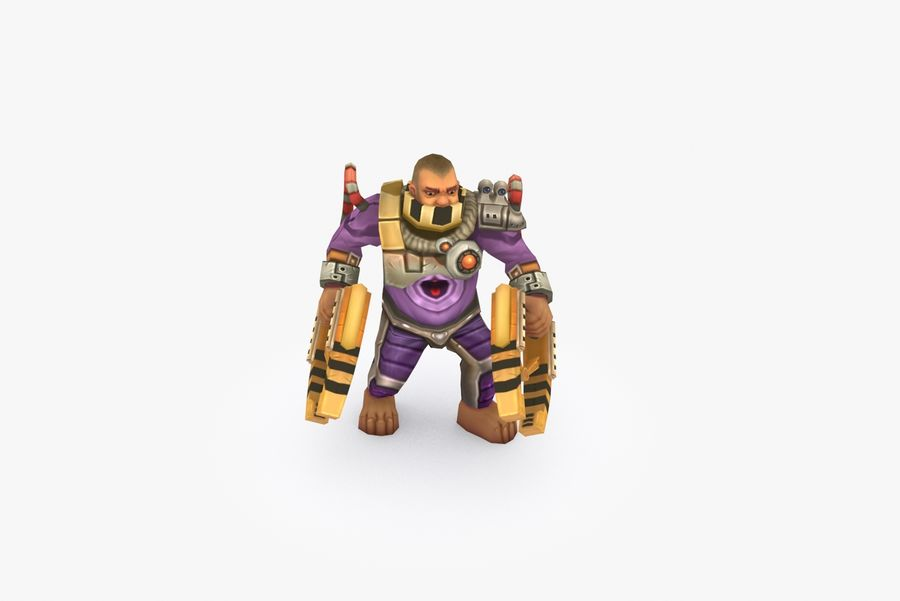 Animated Rigged Character Type G royalty-free 3d model - Preview no. 6