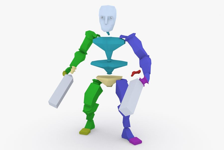 Animated Rigged Character Type G royalty-free 3d model - Preview no. 9