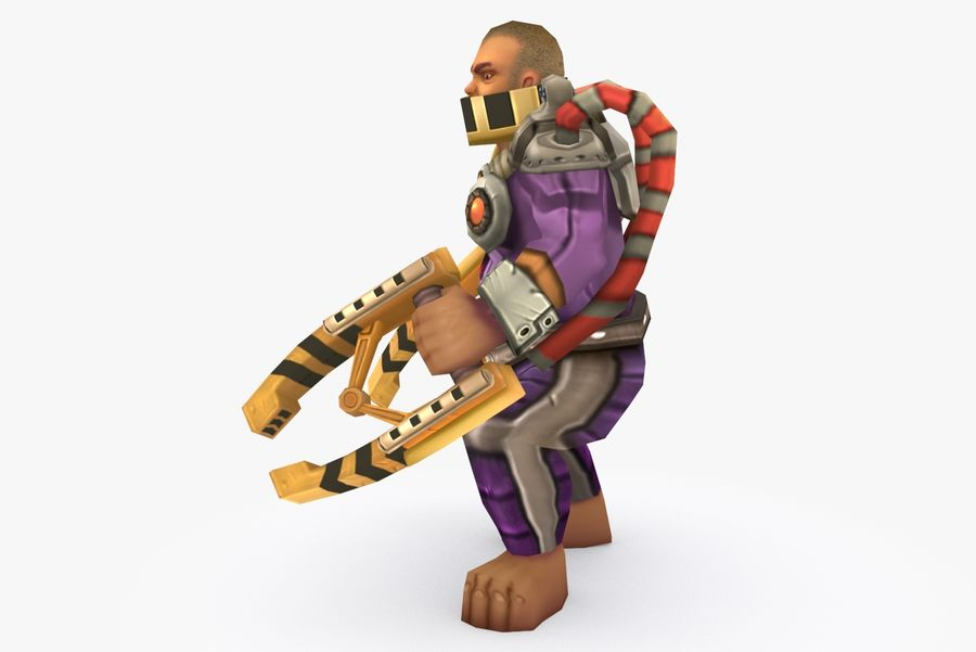 Animated Rigged Character Type G royalty-free 3d model - Preview no. 3