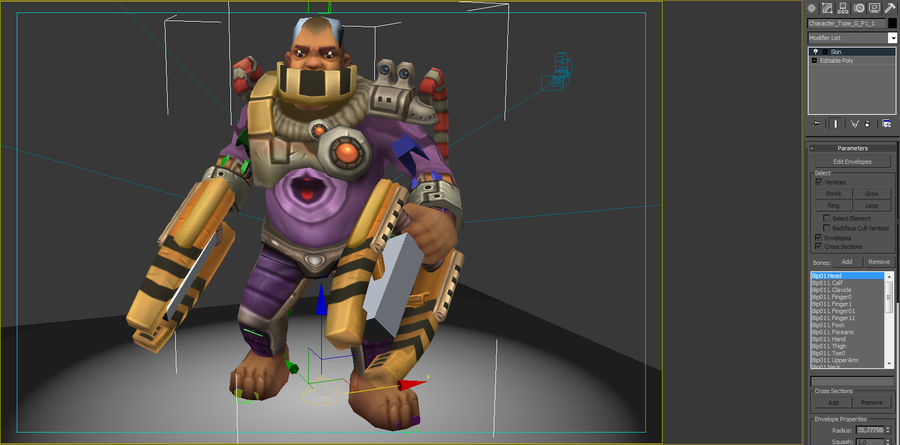 Animated Rigged Character Type G royalty-free 3d model - Preview no. 7