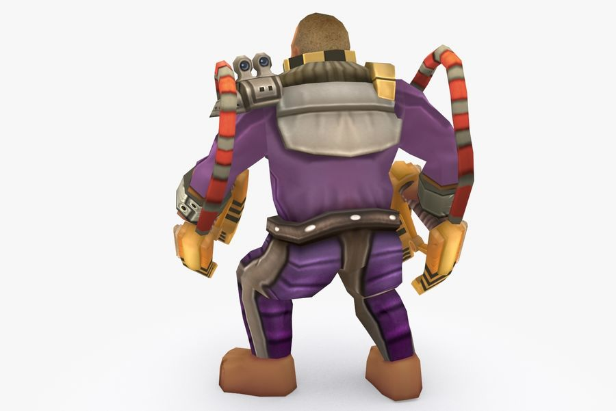 Animated Rigged Character Type G royalty-free 3d model - Preview no. 4