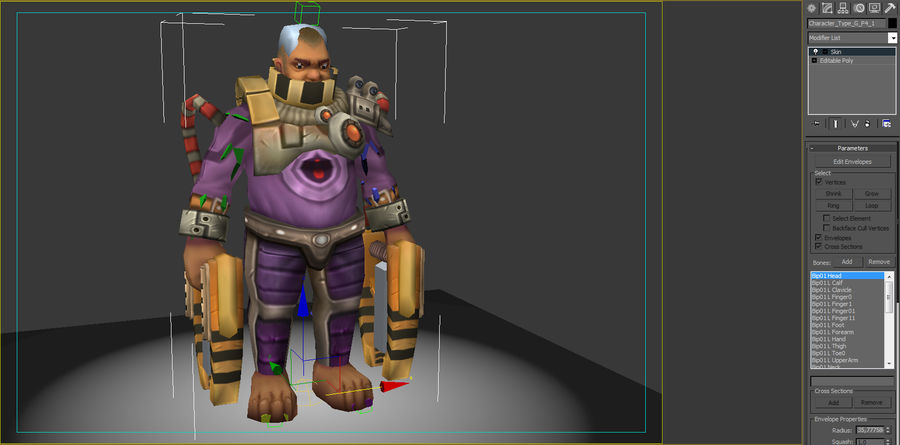 Animated Rigged Character Type G royalty-free 3d model - Preview no. 8