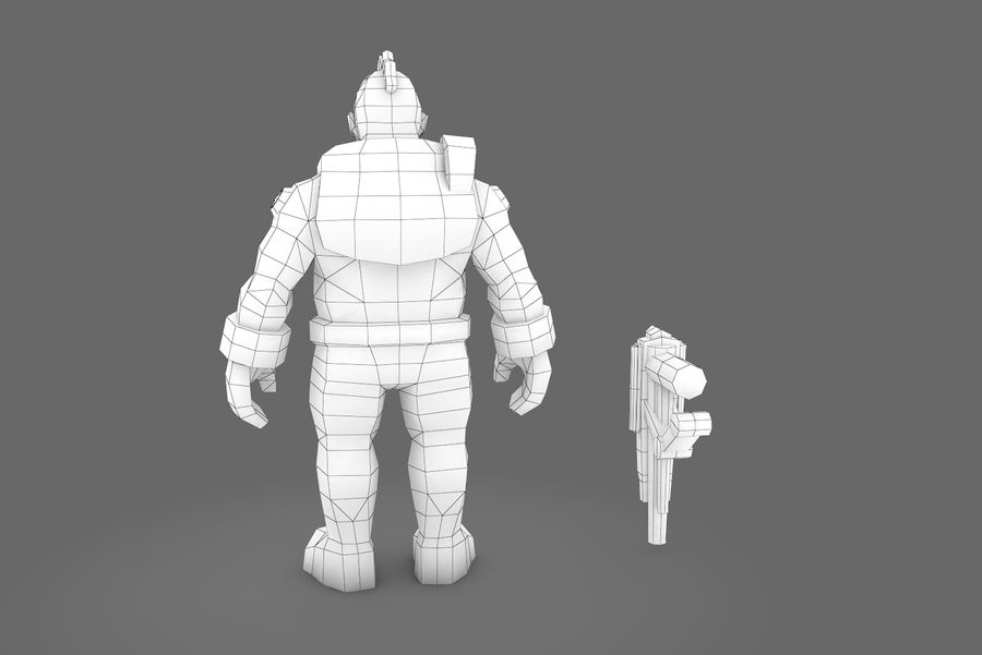 Animated Rigged Character Type H royalty-free 3d model - Preview no. 3