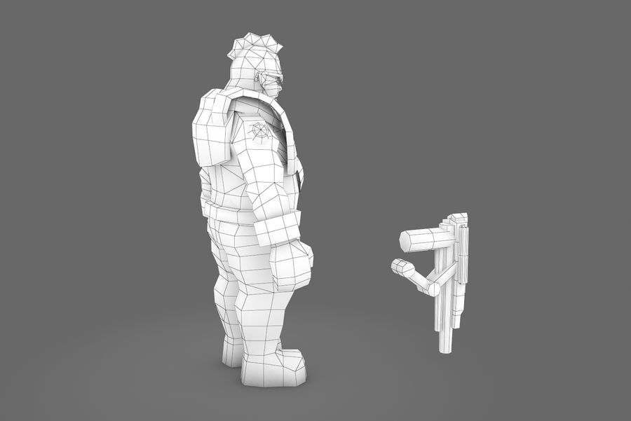 Animated Rigged Character Type H royalty-free 3d model - Preview no. 2