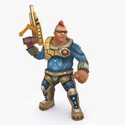 Animated Rigged Character Type H 3d model