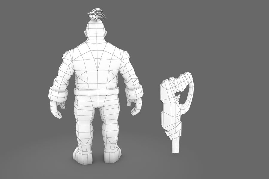 Animated Rigged Character Type I royalty-free 3d model - Preview no. 3