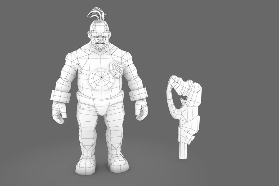 Animated Rigged Character Type I royalty-free 3d model - Preview no. 10