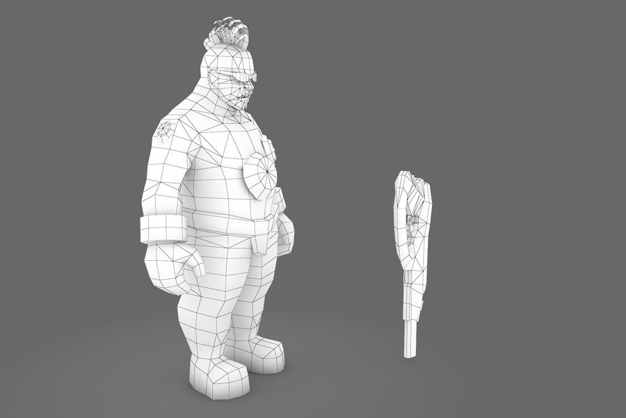 Animated Rigged Character Type I royalty-free 3d model - Preview no. 11