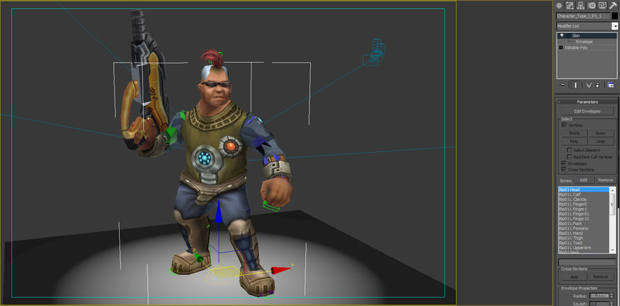 Animated Rigged Character Type I royalty-free 3d model - Preview no. 7