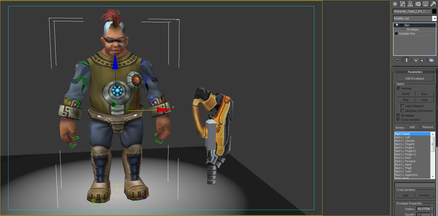 Animated Rigged Character Type I royalty-free 3d model - Preview no. 8