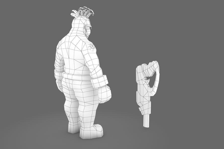 Animated Rigged Character Type I royalty-free 3d model - Preview no. 12