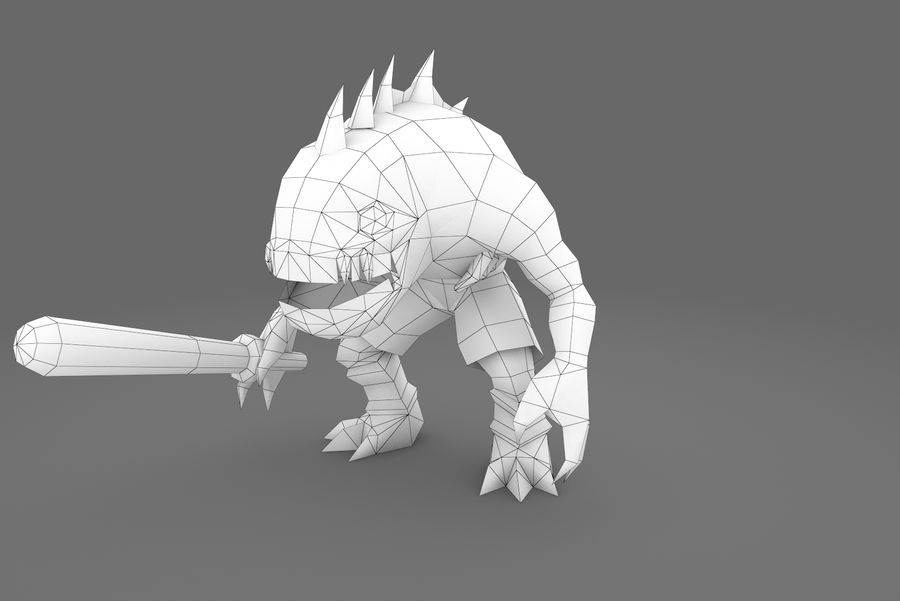 Animated Rigged Creature Type G royalty-free 3d model - Preview no. 4