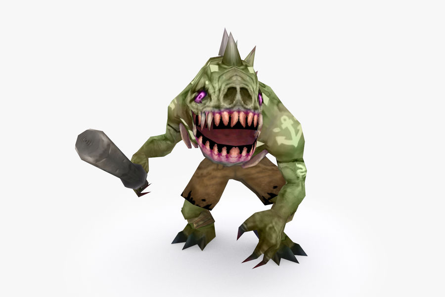 Animated Rigged Creature Type G royalty-free 3d model - Preview no. 2