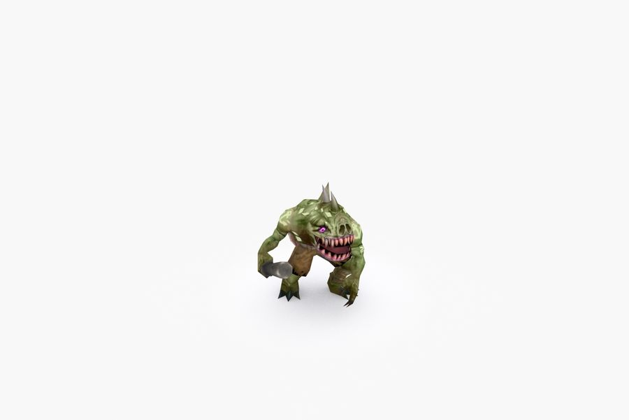 Animated Rigged Creature Type G royalty-free 3d model - Preview no. 6