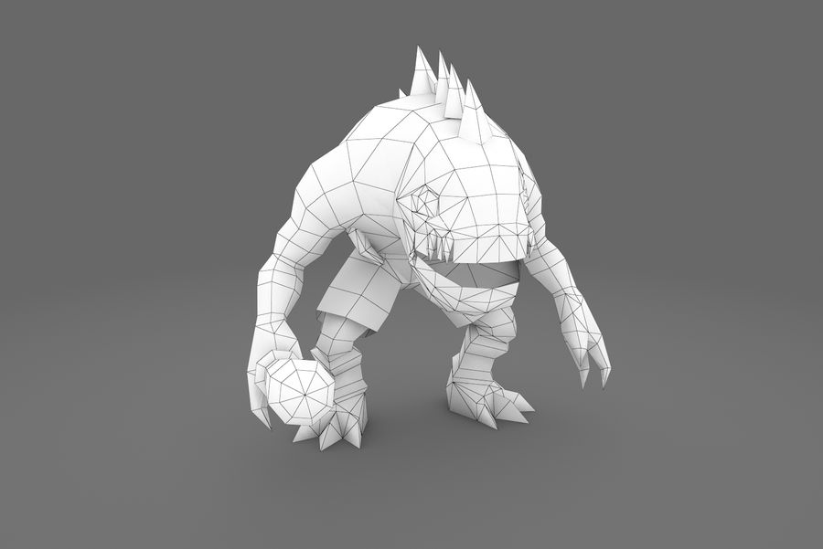 Animated Rigged Creature Type G royalty-free 3d model - Preview no. 10