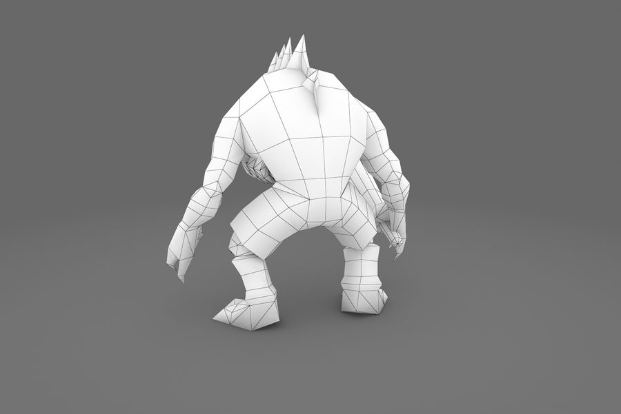 Animated Rigged Creature Type G royalty-free 3d model - Preview no. 13