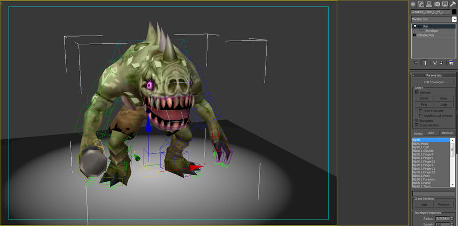 Animated Rigged Creature Type G royalty-free 3d model - Preview no. 8