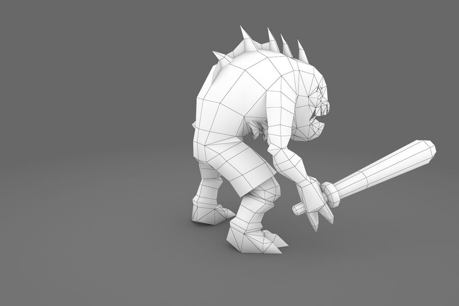 Animated Rigged Creature Type G royalty-free 3d model - Preview no. 12