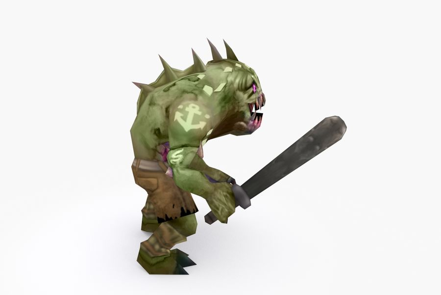 Animated Rigged Creature Type G royalty-free 3d model - Preview no. 5