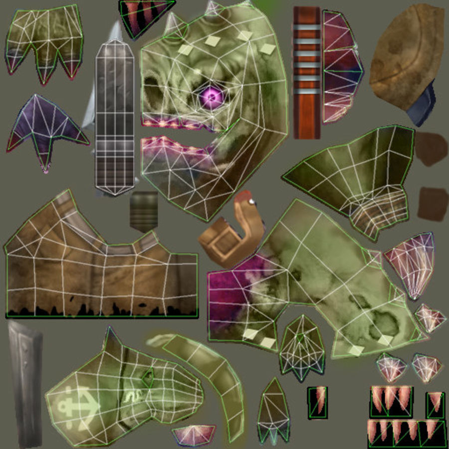 Animated Rigged Creature Type G royalty-free 3d model - Preview no. 17